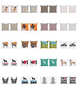 Ambesonne Dog Lover Cushion Cover Set of 2 for Couch and Bed