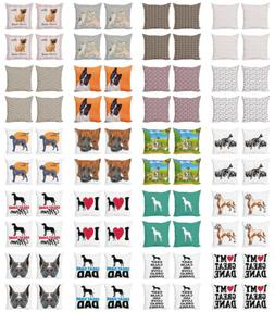 Ambesonne Dog Lover Cushion Cover Set of 4 for Couch and Bed