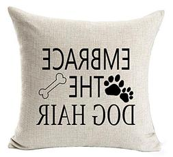 Best Dog Lover Gifts Warm Sweet Funny Sayings The Road To My Heart Is Paved With Paw Prints Cotton Linen Decorative Home Office Throw Pillow Case Cushion Cover Square 18X18 InchesBest Dog Lover Gifts