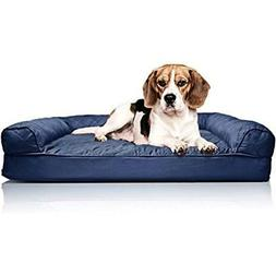 Dog FurHaven Small Quilted Orthopedic Sofa Pet Bed for Dogs