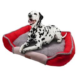 Dog Square Bed for Sleeping Soft Memory Foam Warming Mat wit