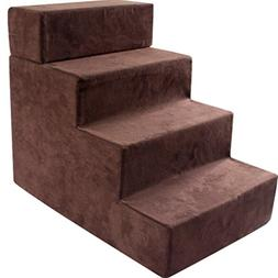 Step stool Dog Stairs For Medium Dogs For Tall Bed, 4 Step S