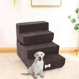 4 Easy Dog Stairs Pet Ramp Ladder for High Bed  Steps Small
