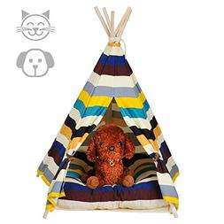 DEWEL Dog Tent, Pet Teepee Dog & Cat Bed Toy House Portable