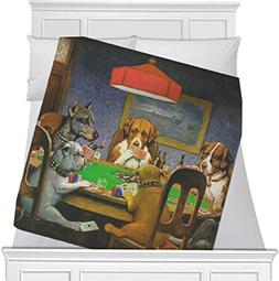 RNK Shops Dogs Playing Poker by C.M.Coolidge Fleece Blanket