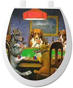 RNK Shops Dogs Playing Poker by C.M.Coolidge Toilet Seat Dec