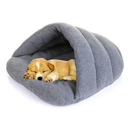 FAVOLOOK Dogs Sleeping Bag, Pets Cave Bed Half Covered Cuddl