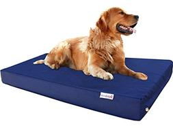 Dogbed4less Durable Extra Large Gel Memory Foam Dog Bed with
