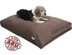 Durable Memory Foam Pet Dog Bed Pillow + WaterProof CASE + B