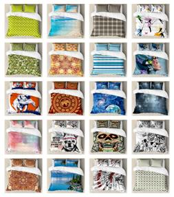Ambesonne Duvet Cover Sets, King Queen Twin Sizes with Pillo