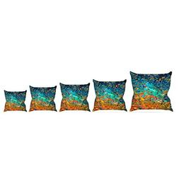 Kess InHouse EBI Emporium Eternal Tide II Teal Orange Throw