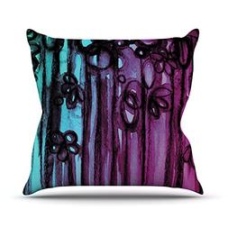 "Kess InHouse Ebi Emporium ""Winter Garden Ombre"" Throw Pillow"