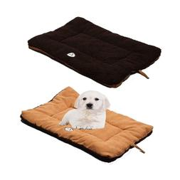 Pet Life Eco-Paw Reversible Eco-Friendly Brown Cocoa Dog Pil
