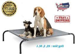 Elevated Dog Bed Lounger Sleep for Pet Cat Raised Cot Hammoc