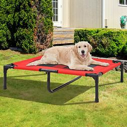 "PawHut 36"" x 30"" Elevated Cooling Summer Dog Cot Pet Bed Wit"