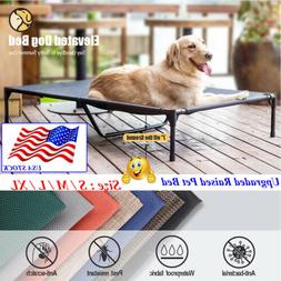 VEEHOO Elevated Dog Cat Bed Pet Cot Raised Lounger Hammock f