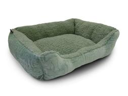 AKC Embossed Solid Pet Cuddler Bed, Green, 32x20x8-Inch
