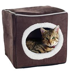 PETMAKER Enclosed Cube Pet Bed, 13 by 13.5 by 12-Inch