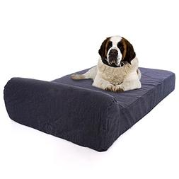 Large Luxury 7 inch Gel Memory Foam Orthopedic Dog Bed with