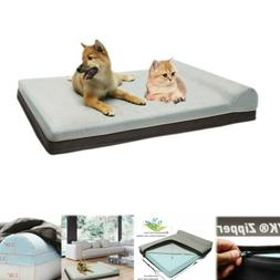 Extra Large Dog Bed Deluxe Memory Foam Orthopedic Durable Wa