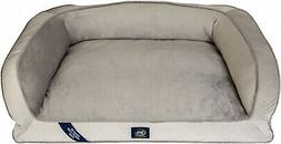 Extra Large Dog Memory Foam Couch Ortho Foam Fill Plush Slee