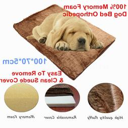 Extra Large PAW Memory Foam Dog Bed MAT With Removable Cover