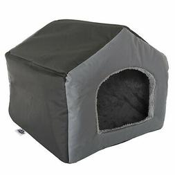 Fabric Dog or Cat House with Removeable Plush Mat Pet Bed Sm