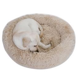 Faux Fur Dog Beds for Medium Small Dogs Self Warming Indoor