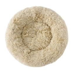 Faux Fur Dog Beds Round Pillow Cuddler for Medium Small Dogs