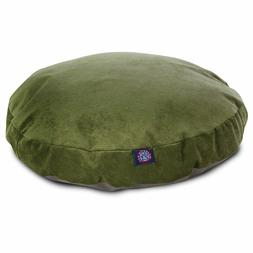 "Majestic Pet Fern Villa 36"" Round Dog Pet Bed Green/Sage M"