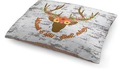 RNK Shops Floral Antler Dog Pillow Bed