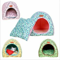 Foldable Cat Bed Pet Tent House Warm Soft Dog Bed Non-slip M
