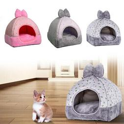 Foldable Cat Dog House Puppy Cave Pet Sleeping Warm Bed Mat