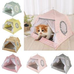 Portable Pet  Dog Cat Folding House Tent Puppy Waterproof In