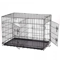 "New Extra Large 48"" Folding Pet Dog Cat Crate Cage Kennel Wi"
