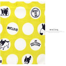 Frenchie French Bulldog Super Soft Fleece YELLOW Pet Bed Bla