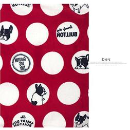 MSFREN Frenchie French Bulldog Super Soft Fleece Red Pet Bed