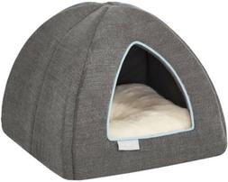 Frisco Igloo Covered Cat & Dog Bed, Gray