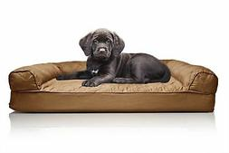 FurHaven Small Quilted Orthopedic Sofa Pet Bed for Dogs and