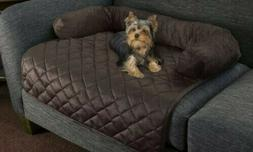 PETMAKER Furniture Protector Pet Cover with Bolster - Brown