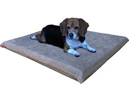 Dogbed4less Gel Cooling Memory Foam Dog Bed for Medium Large
