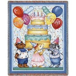 Pure Country Weavers - Happy Birthday Woven Tapestry Throw B
