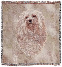 Pure Country Weavers - Havanese Dog Woven Throw Blanket with