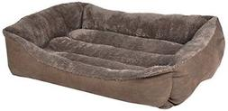 "HappyCare Textiles HCT-REC-007 Rectangle Pet Bed, 25"" by 21"""
