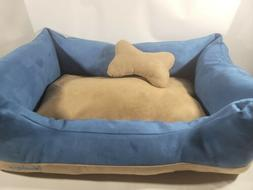 Blueberry Pet Heavy Duty Microsuede Overstuffed Dog Bed Remo