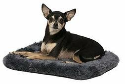 18L-Inch Gray Dog Bed or Cat Bed w | Easy Maintenance Machin