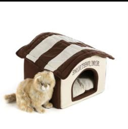 Home Sweet Home Ultra Soft Small Dog Cat Dome Bed Machine Wa