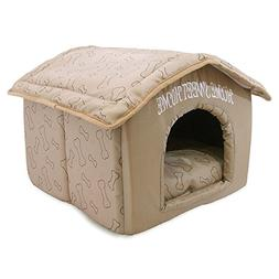 Best Pet Supplies Home Sweet Home Pet House with Bones, Brow