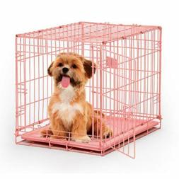 """Midwest iCrate Single Door Dog Crate Pink 24"""" x 18"""" x 19"""""""