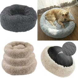 Improved Sleep Donut Cat Bed  Faux Fur Dog Beds for Medium S